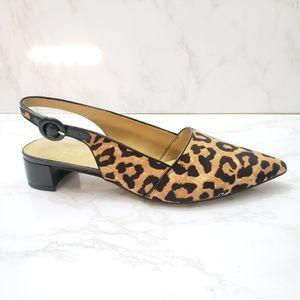 Franco Sarto Slingback Animal Print Shoes Size 8.5
